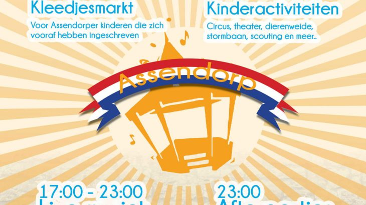 koningsdag assendorp 2018 Zwolle programma A2 poster