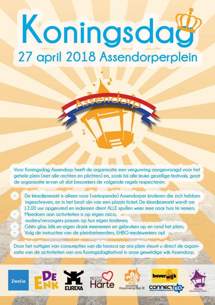 koningsdag zwolle 2018 assendorp assendorperplein programma