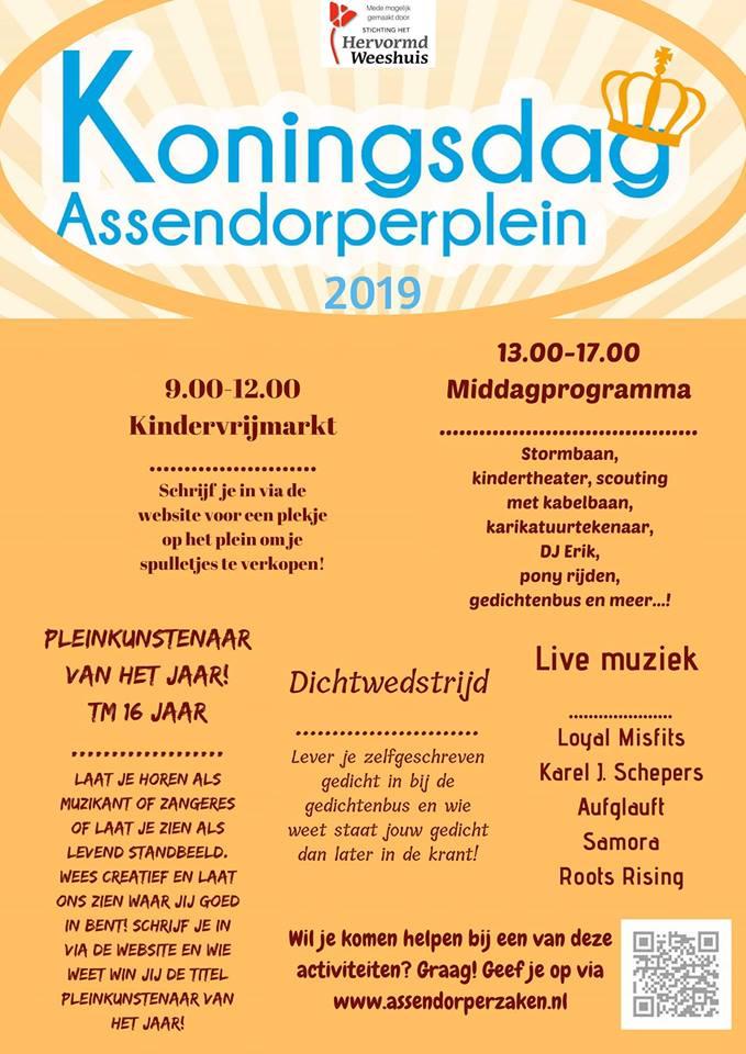 programma koningsdag zwolle assendorp assendorperplein 2019